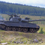 T 55 tank — Stock Photo