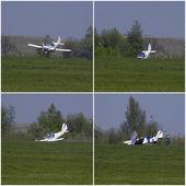 Při letecké havárii — Stock fotografie