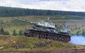 T 34 tank — Stock Photo