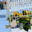Cage with flowers — Stock Photo