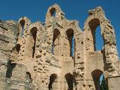 Ruínas do coliseu romano antigo — Fotografia Stock