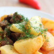 Stock Photo: Meat sauce with potatoes
