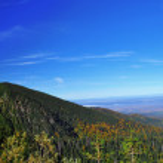 Panorama from Balea Lake in Fagaras mountains, romania, Europe — Stock Photo #22899374