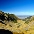 Mountain road in a beautiful day, Romanian Carpathians, Transfagarasan — Stock Photo