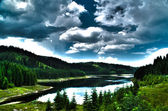 Mountain lake landscape - HDR — Stock Photo