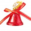 Red bell on white background — Stock fotografie