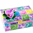 Decorative gift box whit bow — Photo