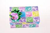 Decorative gift box whit bow — Stock Photo