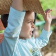 Little boy with straw hat — Stock Photo #25967929