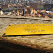 Distance markers - the tower of Sighisoara Citadel — Stock Photo