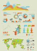 Infographics set 01 — Stock Photo