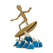 Toy is surfing — Foto Stock
