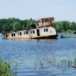 Chernobyl. Abandoned ships - Stock Photo