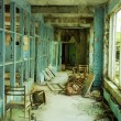 Постер, плакат: Corridor in abandoned school