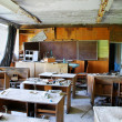 Classroom in abandoned school  — Stock Photo