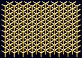 Vector geometric pattern of hexagons — Stock Vector