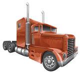 Brown truck — Stock Vector