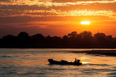 Irrawaddy river, Mynamar — Foto Stock