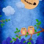 Owl and santa — Stock Photo #29908479