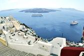 View of Fira town. island Santorin. Greece. — Stock Photo