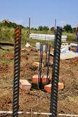 Pile foundations — Stock Photo
