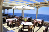 Sea view from Beach cafe restaurant — Stock Photo