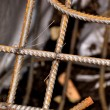 Welded mesh of steel reinforcement — Stock Photo