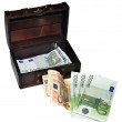 Euro money 100 50 20 10 5. Isolated — Stock Photo