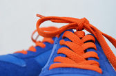 Blue sneakers — Stockfoto