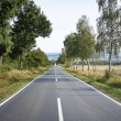 Country road on a beautiful sunny day — Stock Photo