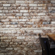 Brick Wall in Cafe in New York — Stock Photo #38035627