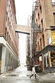 Boston Backstreet at Day bright light — Stock Photo