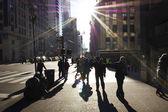 Pedestrians in New York — Stock Photo