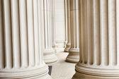 Row of marble columns — Stock Photo