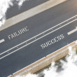 Failure Success Street direction — Stock Photo #39244549