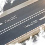 Failure Success Street direction — Stock Photo #39244549