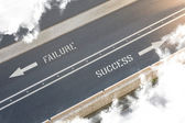 Failure Success Street direction — Stock Photo