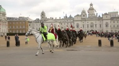Horse guards parade show — Stock Video