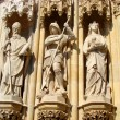 Neo-Gothic Statues of Saints — Stock Photo