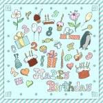 Birthday postcard — Stock Vector #25517811