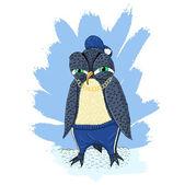 сердитый пингвин — Cтоковый вектор