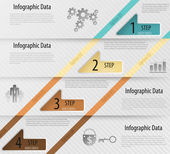 Modern infographics options banner with arrows. Vector. Can be used for web design and workflow layout — Stock Vector
