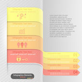 Modern infographics options banner. Vector. Can be used for web design and workflow layout — Stock Vector