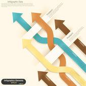 Banner infografía moderna opciones. — Vector de stock