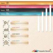 Bannière options infographie moderne. — Vecteur