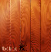 Realistic wood texture background — Stock Vector