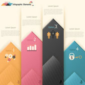 Modern infographics options banner. — Stock Vector