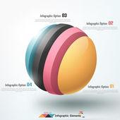 Moderne infographics opties banner. — Stockvector