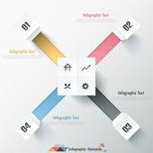 Moderní infografiky možnosti nápis. — Stock vektor