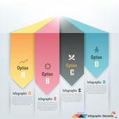 Moderne infografiken optionen banner — Stockvektor